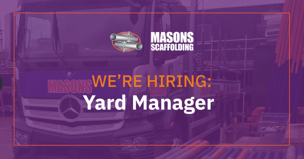 Masons is hiring: Yard Manager