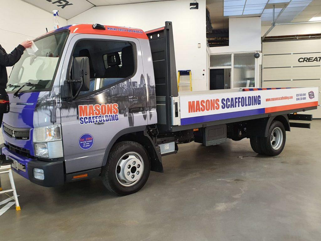 new mitsubishi canter joins Masons Scaffolding fleet